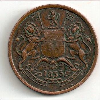 East India Company-Half Anna 1835 4146794_UK-E.I.C.-meia_Anna_1835_2